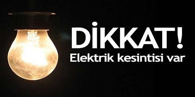 Dikkat! 4 şehirde elektrik kesintisi