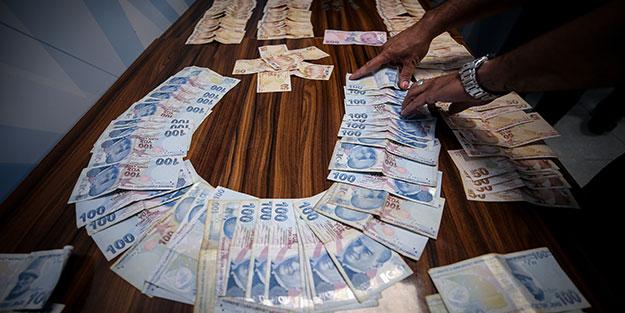 Dilencinin üstünden binlerce lira para çıktı