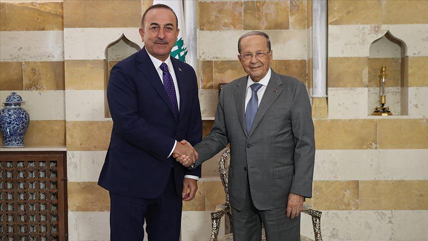 Dışişleri Bakanı Çavuşoğlu Lübnan Cumhurbaşkanı ile bölgesel konuları görüştü