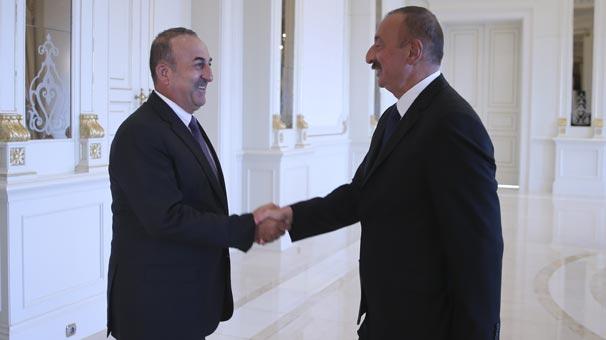 Dışişleri Bakanı Mevlüt Çavuşoğlu, Aliyev ile görüştü