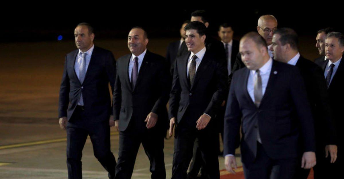 Dışişleri Bakanı Mevlüt Çavuşoğlu, Erbil'de