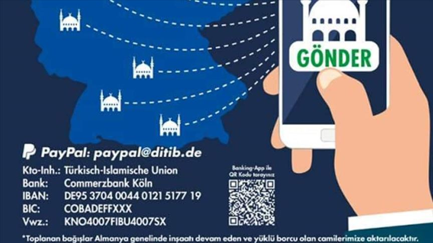 DİTİB'den Almanya'da Kovid-19 salgınından etkilenen camilere yardım kampanyası