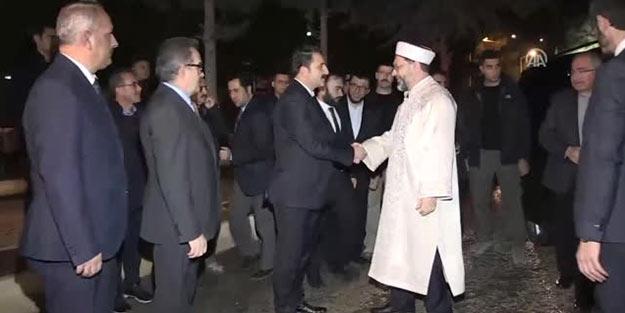 Diyanet İşleri Başkanı Ali Erbaş'tan anlamlı ziyaret