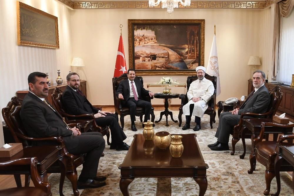 Diyanet İşleri Başkanı Erbaş, Suudi Arabistan Büyükelçisi El Khereiji'yi kabul etti