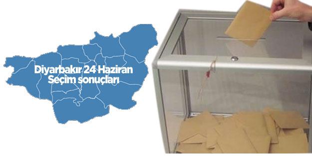 Diyarbakır seçim sonuçları 24 Haziran seçimleri AK Parti MHP Cumhur İttifakı CHP İYİ Parti Saadet Millet İttifakı HDP Diyarbakır oy oranları