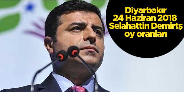 Diyarbakır seçim sonuçları 24 Haziran Selahattin Demirtaş oy oranları