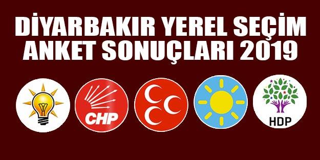Diyarbakır yerel seçim anket sonuçları 2019 Diyarbakır yerel seçim sonuçları