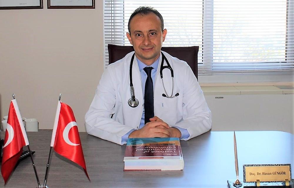 """Doç. Dr. Hasan Güngör; """"Korona virüsten ölenlerin yüzde 70'inde hipertansiyon mevcut"""""""
