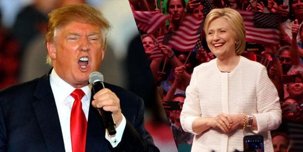 Trump, Clinton'ın çok gerisinde kaldı