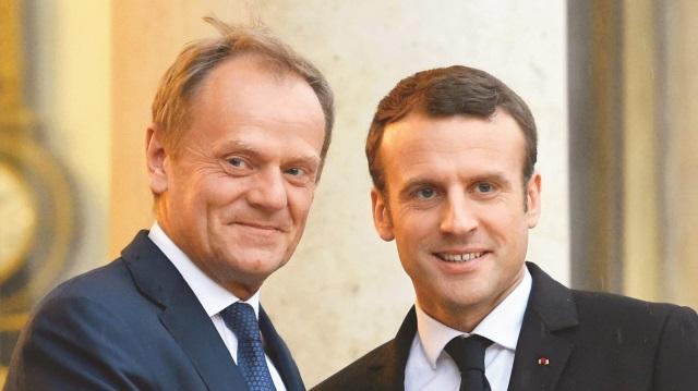 Donald Tusk: Avrupa'nın umudu Macron