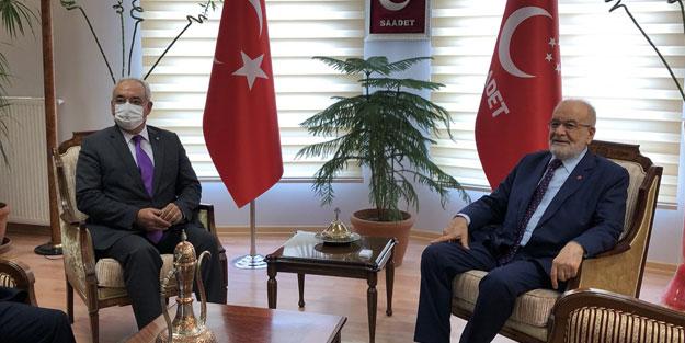 DSP lideri, Karamollaoğlu ile görüştü