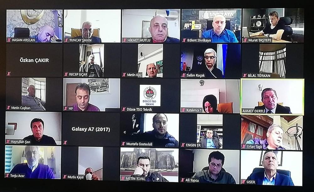 DTSO meclis toplantısı video konferansla yaptı