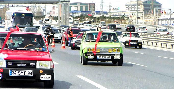 Düğün konvoyundaki 27 araca ceza kesildi