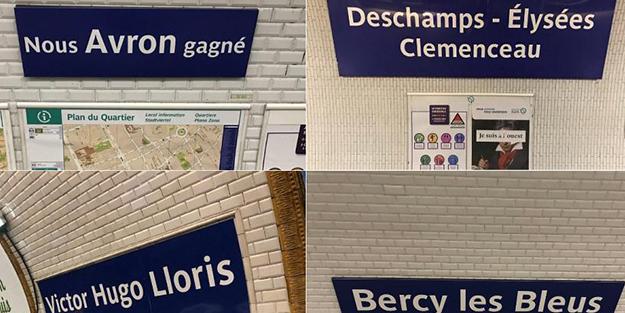 Dünya Kupası'nı alan Fransa'da durak isimleri değişti