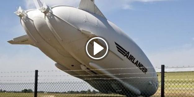 Dünyanın en büyük hava aracı yere çakıldı!