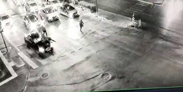 'Dur' ihtarına uymayan sürücü, polisi kaputun üzerinde sürükledi!