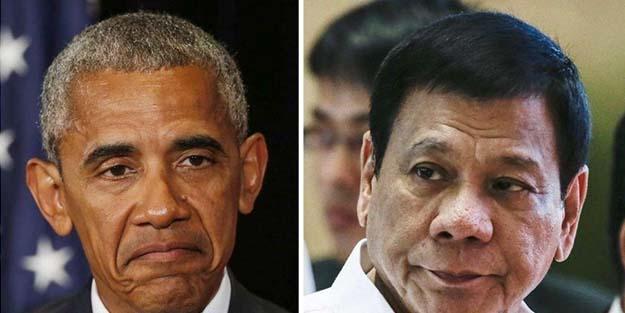 Duterte Obama'ya seslendi: 'O..... çocuğu' dediğim için üzgünüm, affet