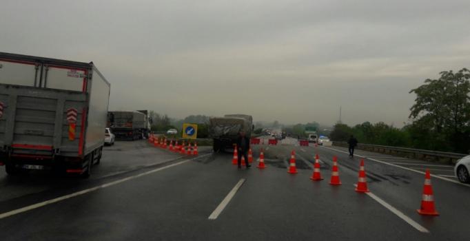 Düzce'de bakım çalışması yapılan yolda kaza: 1 ölü