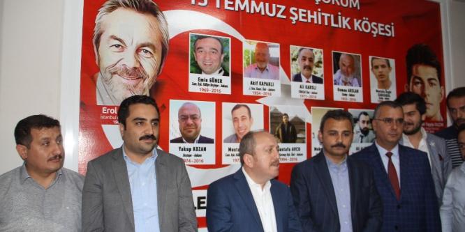AK Parti'den Çorumlu şehitlere vefa