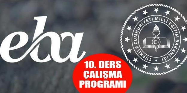 EBA 10. Sınıf ders programı uzaktan eğitim TRT ders saatleri