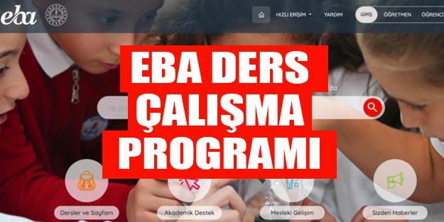 EBA 9. sınıf ders programı EBA 9. sınıf ders çalışma saatleri
