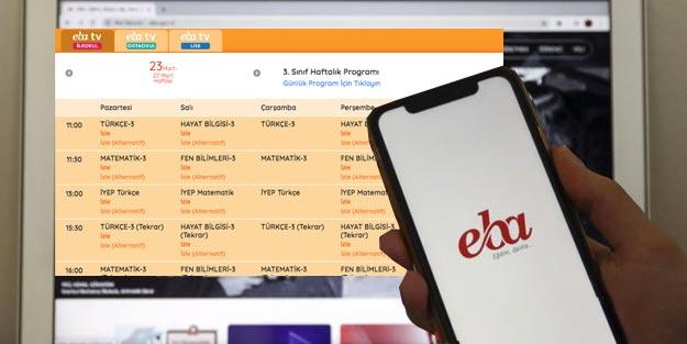 EBA TV canlı izle   EBA TV ilkokul 3. Sınıf ders programı EBA TV 3 sınıf ders saatleri günlük haftalık