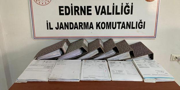 Edirne ve Tekirdağ'da sahte fatura düzenleyen 8 kişi gözaltına alındı