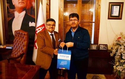 Sakarya Gazetesi Yazı İşleri Müdürü Mücahit Erdal'dan Başkan Yağcı'ya ziyaret