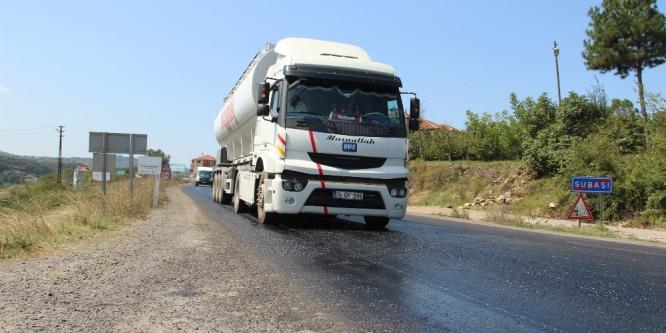 Ereğli-Devrek Karayolu'nda sürücülerin 'zift' çilesi