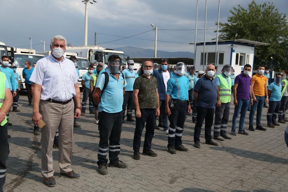 Efeler Belediyesi personeli bayramlaştı