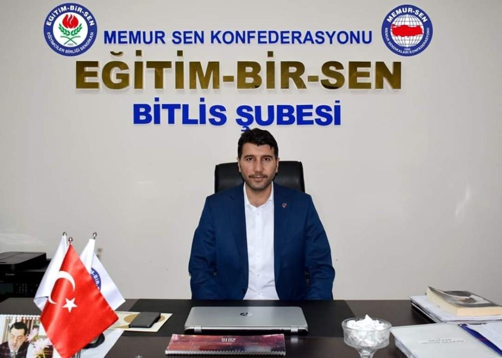 """Eğitim Bir-Sen Bitlis Şube Başkanı Cabir Durak: """"Köklü sorunlara gerçekçi çözümler gerekiyor"""""""
