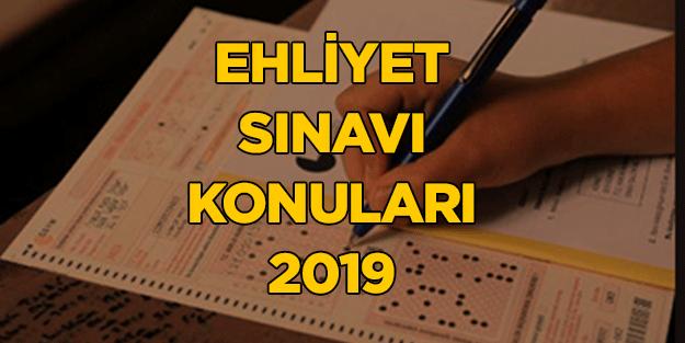 Ehliyet Sınavı Konuları Nelerdir Ehliyet Sınavı Konuları 2019