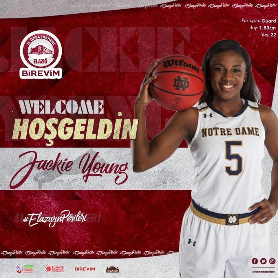 Elazığ İl Özel İdare Kadın Basketbol Takımı, Jackie Young'u transfer etti