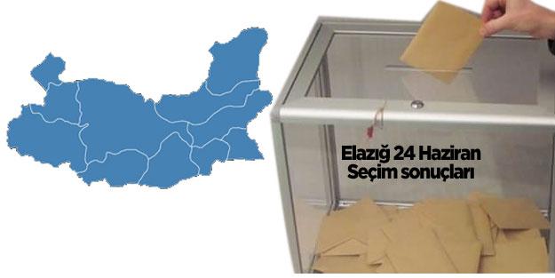 Elazığ seçim sonuçları 24 Haziran seçimleri AK Parti MHP Cumhur İttifakı CHP İYİ Parti Saadet Millet İttifakı HDP Elazığ oy oranları