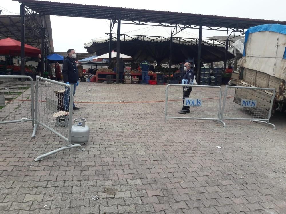 Elazığ'da semt pazarlarında sıkı önlem