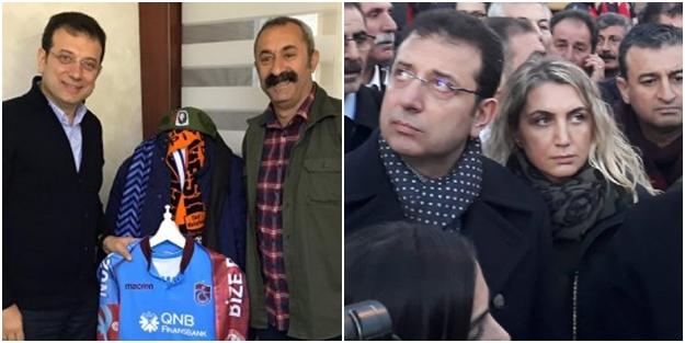 Elazığ'da üzgün görünen İmamoğlu, komünist başkanın yanında gülerek poz verdi!