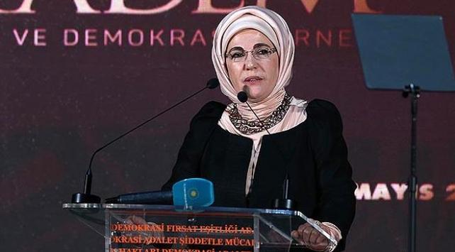 Emine Erdoğan: Kudüs gerçek sahiplerinin elinden alınmaya çalışılıyor