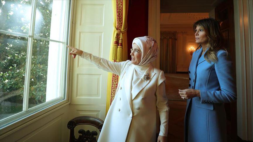 Emine Erdoğan, Melania Trump ile Oval Ofis'te bir araya geldi