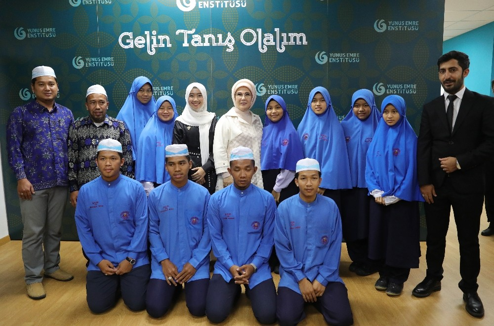 Emine Erdoğan, Yunus Emre Enstitüsü Türk Kültür Merkezi'nin açılış törenine katıldı