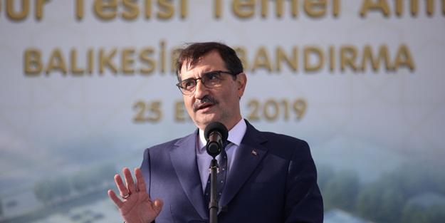 Enerji Bakanı Dönmez: Milli enerji ve maden ile dışa bağımlılığımız azaltılmıştır