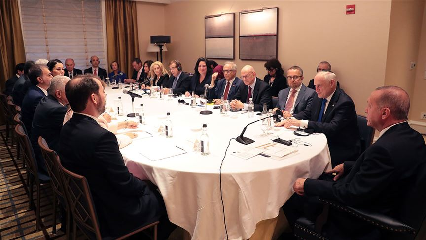 Erdoğan ABD'de Yahudi kuruluş temsilcileriyle biraraya geldi