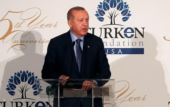 Erdoğan Amerika'da konuştu: Ruhunu 1 dolara satanlar...