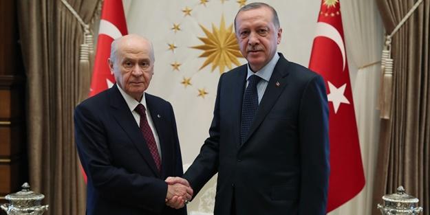 Erdoğan Bahçeli'yi kabul etti!