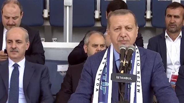 Erdoğan: Bu başarılar bize altın tepside sunulmadı