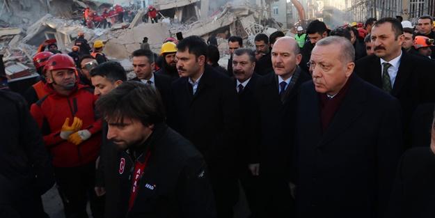 Erdoğan deprem bölgesinden uyardı: Fırsat vermeyin