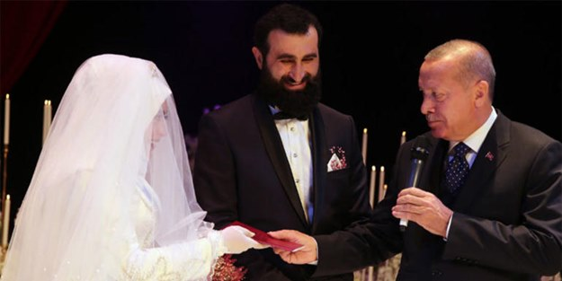 Erdoğan Diriliş oyuncusunun nikah şahidi oldu