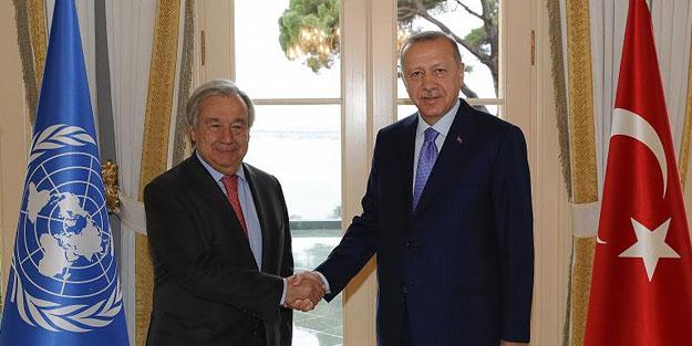 Erdoğan - Guterres görüşmesi sonrası Birleşmiş Milletler'den flaş karar
