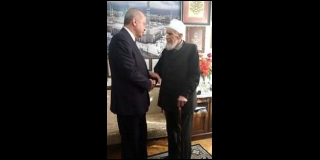 Erdoğan, Hafız Abdullah Nazırlı'yı ziyaret etti