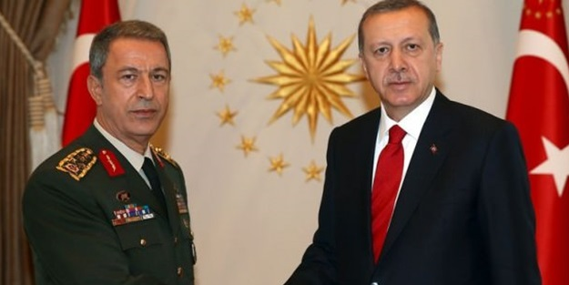 Erdoğan, Hulusi Akar'ı kabul etti