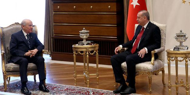 Erdoğan ile Bahçeli görüşecek